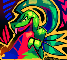 Grovyle Experimment by MusicalCombusken