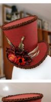 Autumnal Hymn Mini Wonky Top Hat by ImperialFiddlesticks