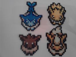 Pokemon Overworld Eevee Set Gen 1 Perler by RetroNinNin