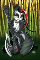 Pandaren Pin-up - Bamboo by FranticStudios