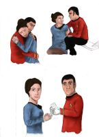 Scotty/Mira doodle-things by wolfgrl1492