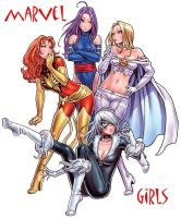 marvel girls by seoane40