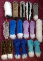 Furry Tails for Bags and Backpacks by Kreativjunkie