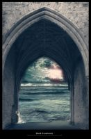 Background arch and sea by Redlantern-stock