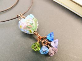 Flower Fae Pendant by adorned-dragonfly