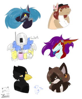 Colored Sketches Available by ZaezarDraws