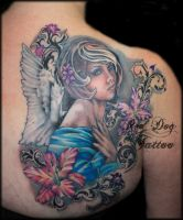 Charlies Angel Finished by Reddogtattoo