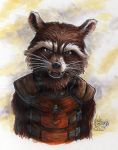Rocket Raccoon Portrait by Phraggle
