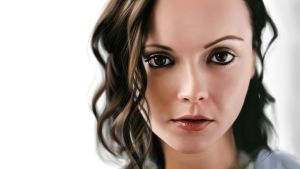 Christina Ricci Painting by Packwood