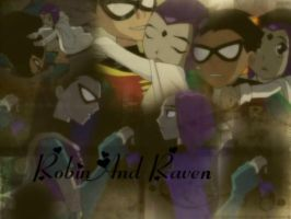 Raven and Robin WP by Spider-Cat