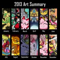 2013 Art Summary by Galactic-Rainbow