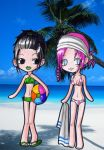 Saki and Robyn , swimsuits :3 by PrincessBlackRabbit