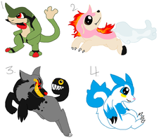 Spliced Pokemon Adopts Auction (CLOSED) by DetritusDroid