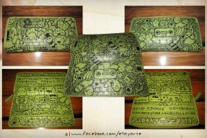 Doodle Wallet by sweetWATERMELONsweet