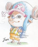 Convention Watercolor Chopper by dekarogue