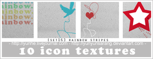 10 icon textures - rainbow by yunyunsarang