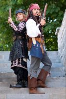 Elizabeth Swann and Jack Sparrow by haricovert-cosplay