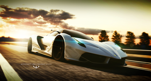Ferrari F70 sunset by wizzoo7