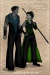 Folks of Euboa: Dark Elves by wolfanita