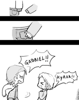 Day 1: Holding hands (Sabriel version) by Nile-kun