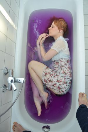 Bathtub purple 03 by Fuchsfee-Stock