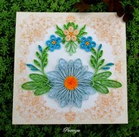 Quilled card by pinterzsu