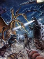 Destroy All monsters by Scott Jackson by monstermangraphics