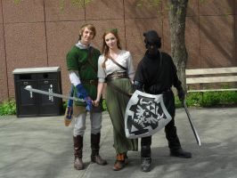 Link and Dark Link cosplayers -Otafest 2013- by Mirria1