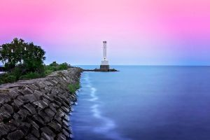 Huron Lighthouse at Twilight by UntilForever-Photos