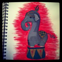 Circus Elephant by atomikheart