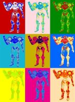 Samus Aran Pop Art by TheGreatDevin