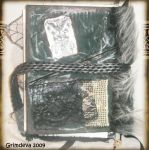 Back of Cemetery Altered book by grimdeva