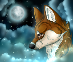 ~ Talking To The Moon ~ +speedpaint by Afna2ooo