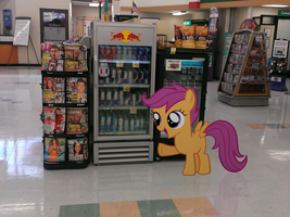 Scootaloo wants a Red Bull [IRL] by Dreamland200