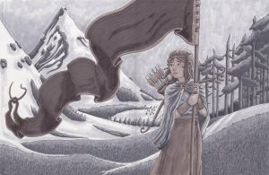 Alette - The Banner Saga (WIP) by duncan-campbell