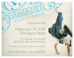 Summer Remix Bash Flyer by soulsteady