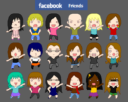 Facebook Friends by Kaie13