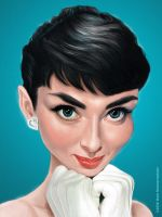 Audrey Hepburn by markdraws