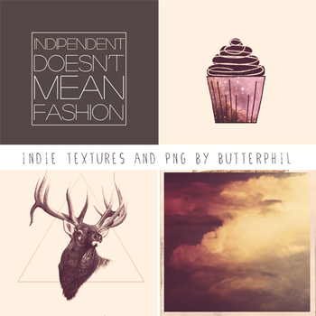 Indie set textures and PNG by Butterphil