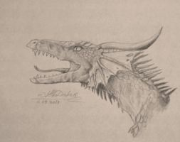 Sketch - 'Ancient' Dragon by Alister-Murkerry