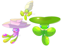Lily Pad Pokemon by HallowDew