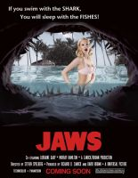 JAWS Movie Poster by Ghostdeini