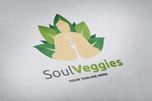Soul Veggies Logo Template by odindesign