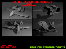 A-10 Thunderbolt Mini Papercraft by Niggayo