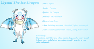 Crystal ice dragon refsheet by HeroHeart001
