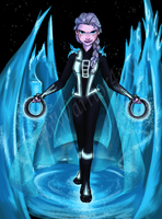 Tron:  Frozen  (fanart) by Starwarrior4ever