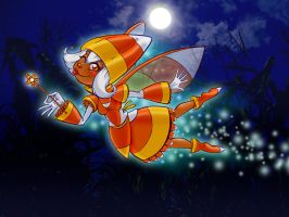 Candy Corn Fairy by gypsygirlpress