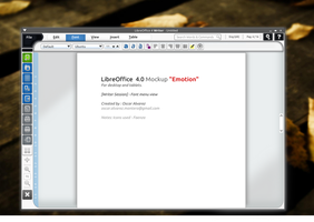 LibreOffice 4.0 Mockup Emotion by andrex80