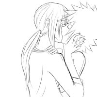 Itanaru kiss rough sketch by lady-noien
