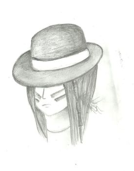 Native with hat by barca-uru